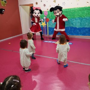Creche with Mickey and Minnie